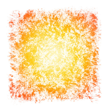 stippled: Sunburst Watercolor Patchy Textured Square Frame Border
