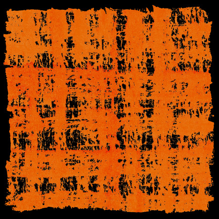 Bright Orange Abstract Crosshatched Background photo