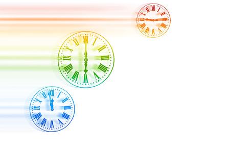 Time Flies - Rainbow Speeding Clocks 版權商用圖片