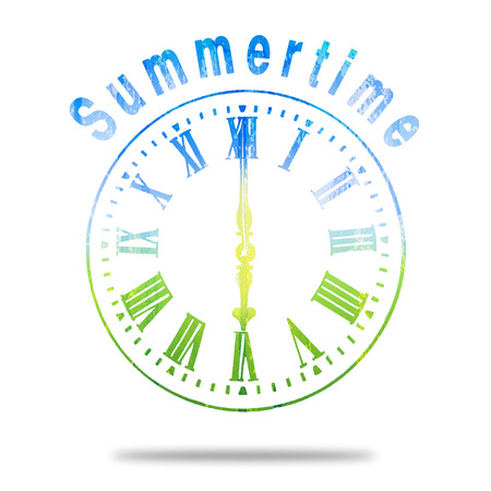 numerals: Summertime Abstract Clock With Summer Colors Stock Photo