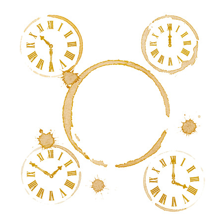 Coffee Tea Time Ring Stains and Clocks photo