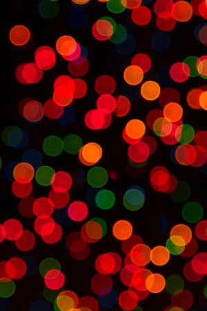 colorful Unfocused Christmas lights