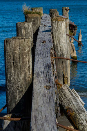 wornout: Old rotting 50 point pier support
