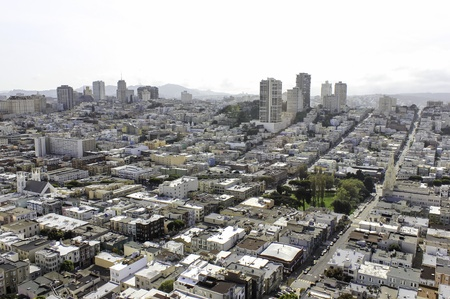 A view of San Francisco streets from above Zdjęcie Seryjne