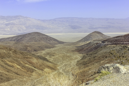 alluvial: Looking down on an alluvial fan with desert and mountains in the distance