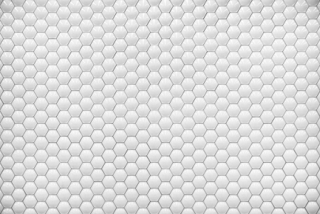 White shiny hexagon bubble tile texture background