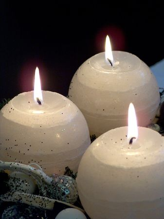 Three advent candles