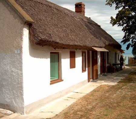 A peasant house in Tihany Stock Photo