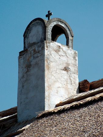 Chimney in Tihany Stock Photo