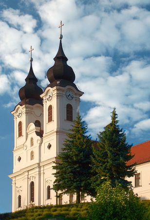 The Abbey of Tihany Stock Photo