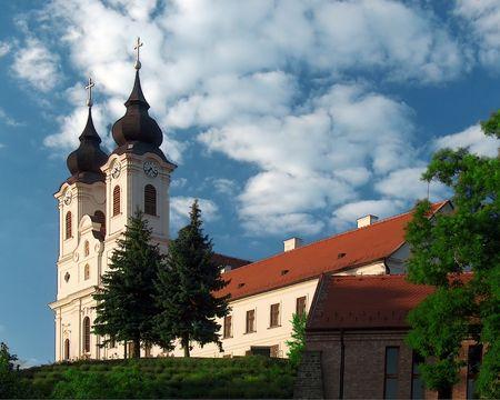 The Abbey of Tihany Stock Photo