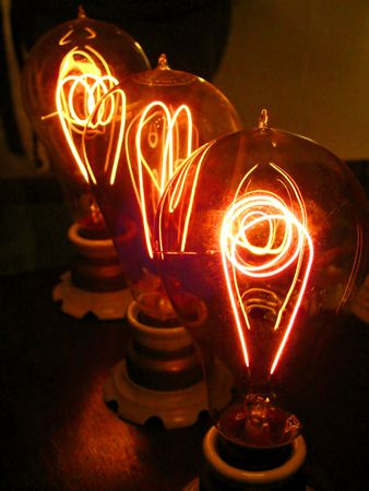 Light up: incandescent lamps Stock Photo - 2712706