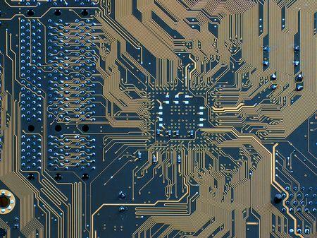 microprocesadores: Circuito impreso de una computadora