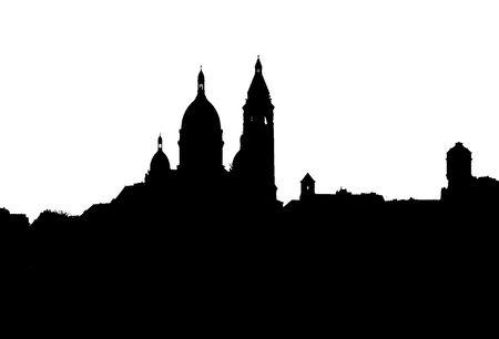 coeur: Sacr-Coeur silhouet