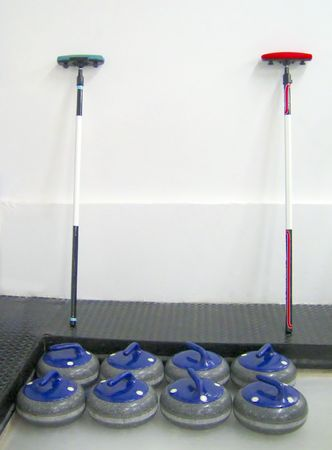 Sport: curling, blue team