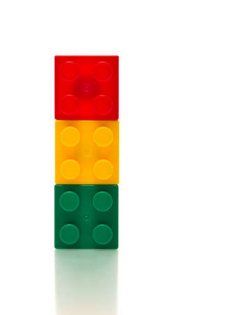 colourful plastic magnet bricks