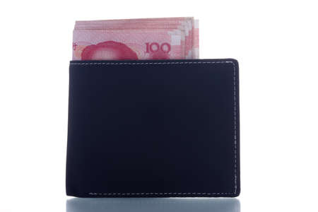 stack of yuan notes in wallet Stock Photo - 10877603