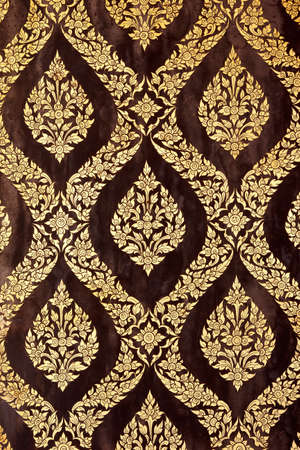 ornate thai lacquer and gild art pattern photo