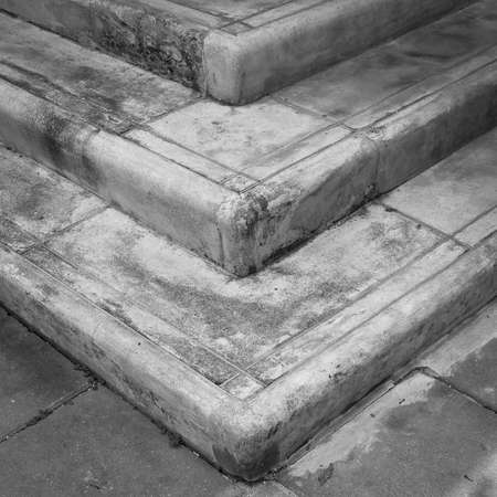 grunge 3 steps concrete stairway Stock Photo
