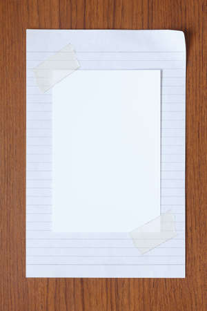 blank photo paper on white paper background