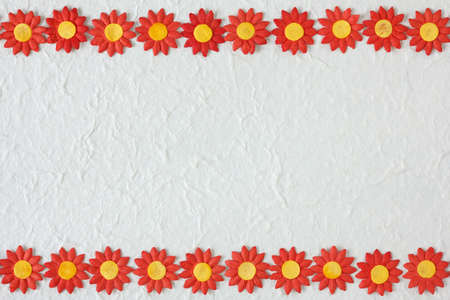 paper flower pattern on white mulberry paper