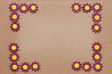paper flower pattern on old cardboard Stock Photo