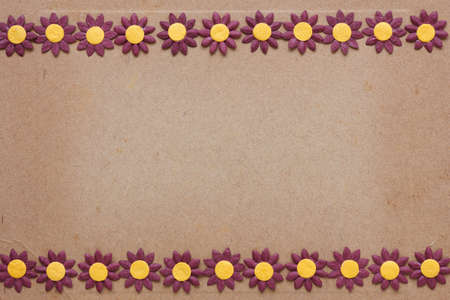 paper flower pattern on old cardboard photo
