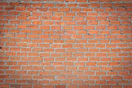 new unplastered  red brick wall texture photo