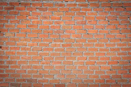 new unplastered  red brick wall texture photo