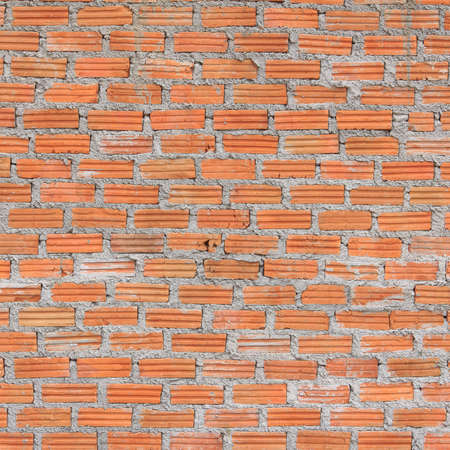 new unplastered  red brick wall texture