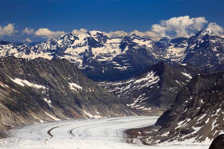 aletsch: View of Aletsch glacier from Jungfraujoch,Switzerland