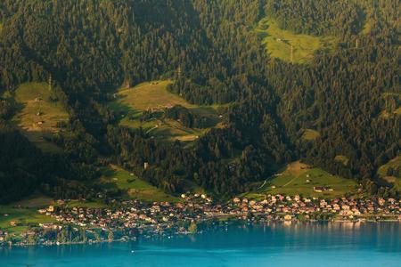 interlaken: View of mountain and lake at Interlaken ,Switzerland