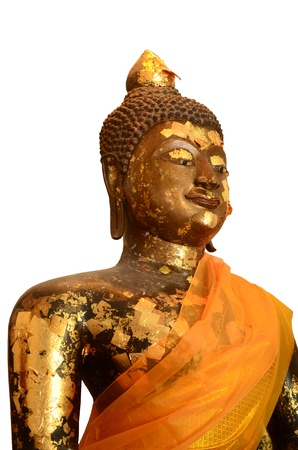 Buddha in gold on a white background Stock Photo - 16161655