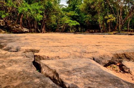 tat: Tat Ton stone Waterfall Stock Photo