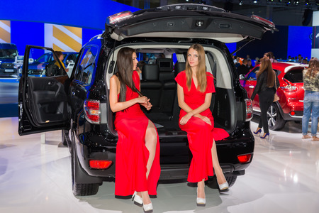 nissan: The international motor show in Moscow. 2014. Nissan.