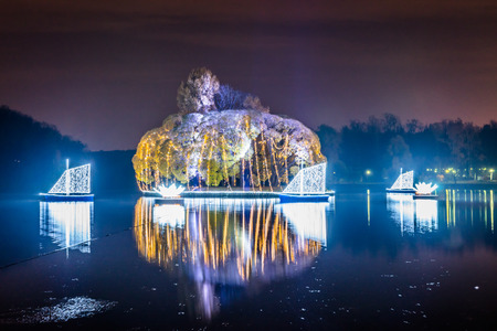 the tsaritsyno: Festival. Circle Of Light. Russia. Moscow. Tsaritsyno.