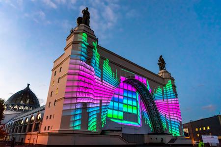 enea: The Space Pavilion. Festival. Circle Of Light. Russia. Moscow. ENEA.VDNKH.