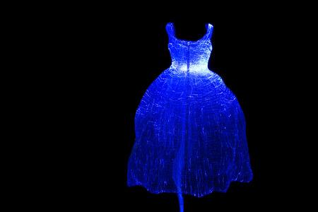 illuminated: Illuminated wedding gown.