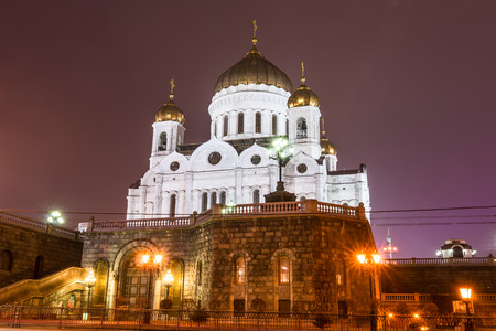 councils: Autumn 2014. Russia. Moscow. The Cathedral Of Christ The Savior. The Hall Of Church Councils. View from the embankment of the Moscow river.??The Cathedral of Christ the Saviour (Russian: Khram Khrista Spasitelya) is a cathedral in Moscow, Russia, with an