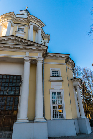 17 18 years: Spring 2015. Evening. Russia. Moscow. Estate Vinogradovo. The Temple Of The Vladimir Icon Of The Mother Of God.