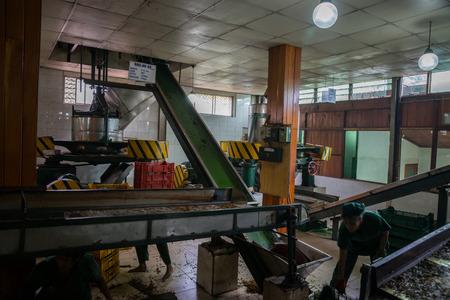 kandy: Sri Lanka. Kandy - August 16, 2015. Inside The Tea Plantation. Tea processing at the Factory.