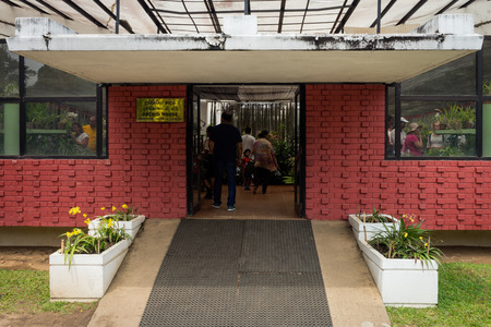 orchid house: Sri Lanka. Kandy - August 16, 2015. The Orchid House. View from the outside. Editorial