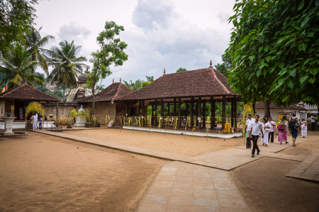 buddah: Sri Lanka. Kandy - August 16, 2015. The Temple of The Tooth of Buddah. The Territory Of The Temple. Editorial