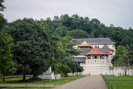 buddah: Sri Lanka. Kandy - August 16, 2015. The Temple of The Tooth of Buddah. View of the Temple from the outside. Editorial