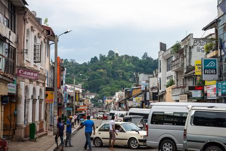 buddah: Sri Lanka. Kandy - August 16, 2015. The streets of the City near the Temple The Tooth of Buddah.