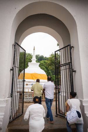 buddah: Sri Lanka. Kandy - August 16, 2015. The Temple of The Tooth of Buddah.  The entrance to the Territory Of The Temple.