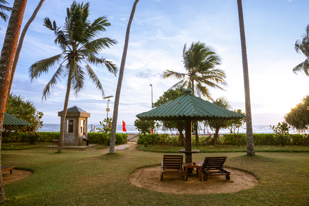 recreation area: Sri Lanka. Kalutara - August 18, 2015. Near The Ocean. Recreation area near the beach. Editorial