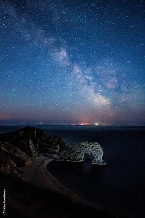 Milky Way over Durdle Door @1am, Jurassic cost in Dorset.