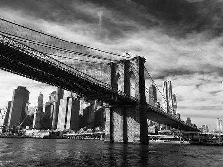 South Manhattan, From East River under Brooklyn Bridge