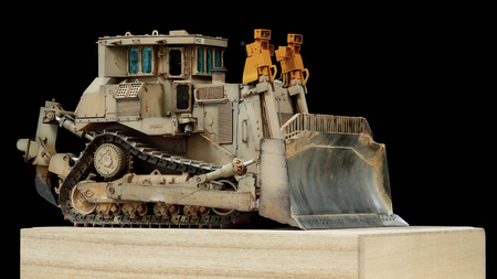 This photo is a scale model of an armored bulldozer, This bulldozer is equipped by USMC during the operation in Iraq 2003. 에디토리얼